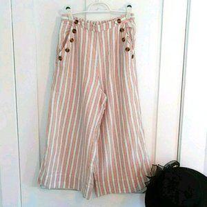 American Eagle Wide Leg Crop Pants Size M